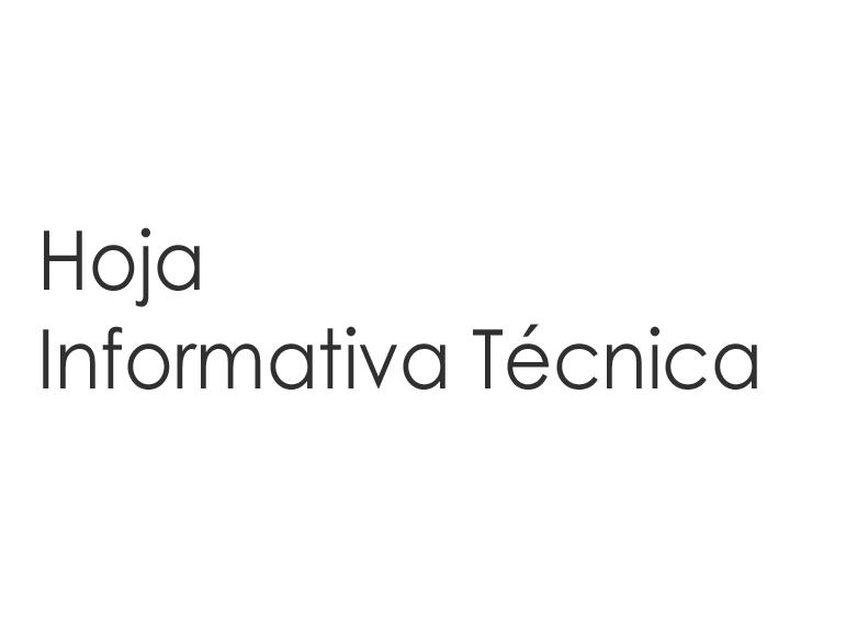 Hoja Informativa Técnica